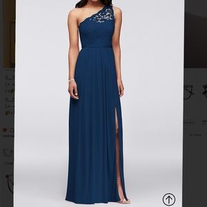 Size 8 lace navy blue bridesmaid dress